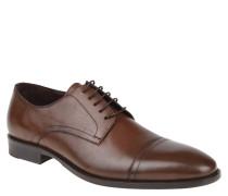 Schnürschuhe, Leder, abgesetzte Spitze, Derby-Stil