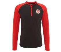 FC St. Pauli Langarmshirt, halbe Knopfleiste, für Herren