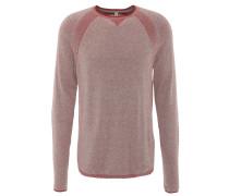 Pullover, Feinstrick, Baumwoll-Mix, Rot