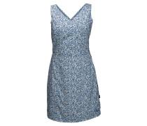 """Kleid """"Wahia Millefleur"""", V-Ausschnitt, UV-Schutz, für Damen, Blau"""