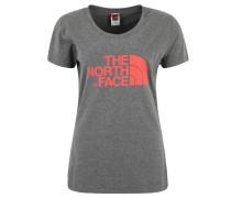 T-Shirt, Rundhals, Label-Print, für Damen, Grau