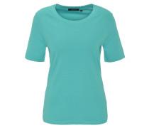 T-Shirt, uni, Strass-Besatz, Baumwolle