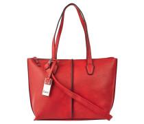 Handtasche, Leder-Optik, Narben-Design, Rot