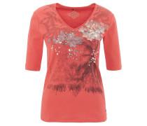 "T-Shirt ""Havana Club"", Strass, Print, Halbarm, Rot"