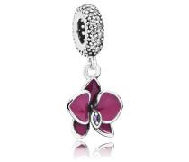 Charm Anhänger Silber Orchidee 791554EN69