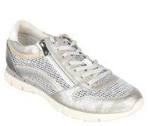 Sneaker, Metallik-Optik, Wechselfußbett, Silber