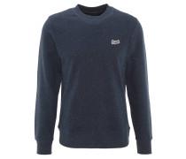 Sweatshirt, gesprenkelt, Stickerei, Baumwoll-Mix, Blau