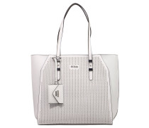 """Shopper """"Gia"""", Kunstleder, Lochmuster, Brieftasche, Weiß"""