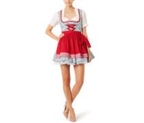 """Dirndl """"Beatrice"""", Erdbeermuster, Paspeln"""