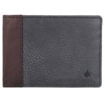 Brieftasche, Leder, Münzfach, Schwarz