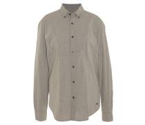 Freizeithemd, Regular Fit, Button-Down-Kragen, feine Streifen, Grau