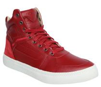 """Sneaker """"S-Spaark Mid"""", Leder, Struktur-Mix, Rot"""