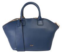 "Handtasche ""Venja"", genarbtes Rindsleder, Schultergurt, Blau"