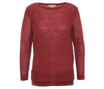 Pullover, grobmaschig, Seitenschlitze, Rot