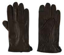 Lederhandschuhe, Fleecefutter, elastischer Bund