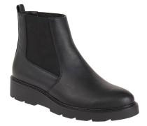 Chelsea Boots, uni, Plateau, Leder-Optik, Schwarz