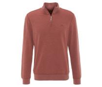 Sweatshirt, Reißverschluss, Rippbündchen, Rot