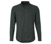Langarmhemd, Button Down-Kragen, geprägte Knöpfe