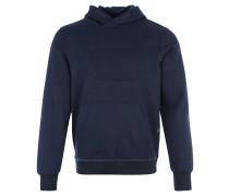 Hoodie, zweifarbig, erhabenes Logo, Baumwoll-Mix, Blau