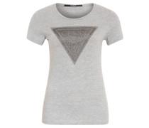 "T-Shirt ""Shiny Night"", Print vorn, unifarben, Grau"