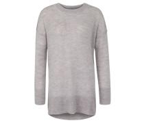 Pullover, meliert, Seitenschlitze, Ripp-Bündchen, Grau