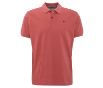 Poloshirt, Piqué, Stickerei, Baumwolle, Rot