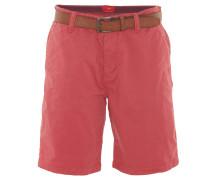 "Bermuda-Shorts ""Plek"", Loose Fit, uni, integrierter Gürtel, Rot"
