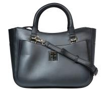 Handtasche, Leder, optionaler Schultergurt, Schwarz