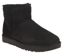 """Boots """"Classic Mini II"""", Veloursleder, Lammfellfutter, Schwarz"""