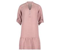 Kleid, Ärmelaufschlag, Knopfleiste, uni