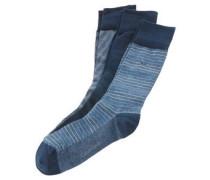 Socken, 3er-Pack, gemustert