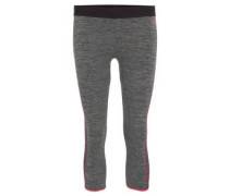 Leggings, meliert, 3/4-Länge, schnelltrocknend, atmungsaktiv, für Damen