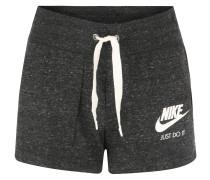Shorts, Logo-Print, meliert, für Damen, Schwarz