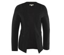 Blazer, Streifen-Struktur, Jersey, Reißverschluss-Taschen, Schwarz