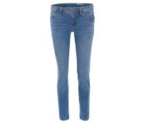 Jeans, Stretch-Denim, Used-Look, Blau
