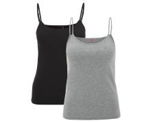 Unterhemd, 2er-Pack, Baumwoll-Mix, verstellbare Träger