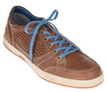 "Sneaker ""Gatteo"", Leder, Loch-Musterung, Braun"