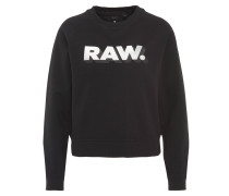 "Sweatshirt ""Xula"", Metallic-Print, Ripp-Bund, Schwarz"