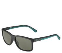 Sportsonnenbrille, zweifarbig, eckige Gläser, unisex