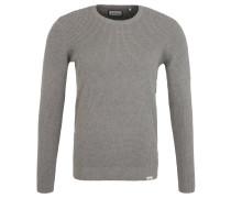 Pullover, Strickmuster, reine Baumwolle, Grau