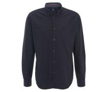 Freizeithemd, gemustert, Button-Down-Kragen, Baumwolle, Blau