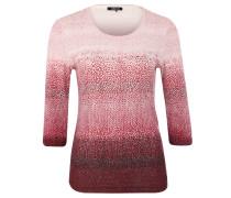 Shirt, 3/4-Ärmel, Print, Baumwolle, Rot