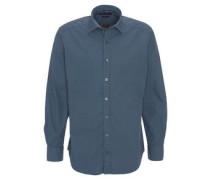 Hemd, modern fit, geometrisches Muster, Kent-Kragen