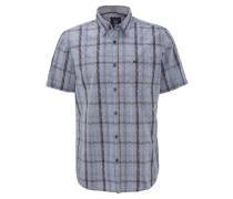 Hemd, comfort-Fit, Klappkragen, Brusttasche, gestreift, Blau