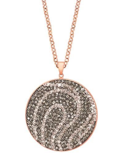 Lange Halskette mit Swarovski® Kristallen und rosévergoldet
