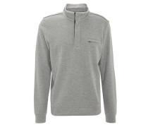 Sweatshirt, Stehkragen, Reißverschluss, Brusttasche, Grau