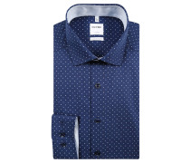 Businesshemd, Comfort Fit, Kentkragen, gepunktet, Blau