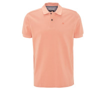 Poloshirt, Piqué, Stickerei, Baumwolle, Orange