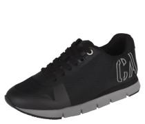Sneaker, Schnürung, Mesh-Einsatz, Marken-Schriftzug, Schwarz