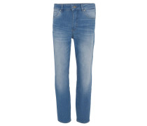 "Jeans ""Mila 001"", Relaxed Fit, hoher Bund, Waschung"